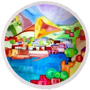 Sorrento Round Beach Towel