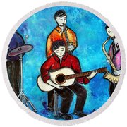 Soul Brothers Round Beach Towel