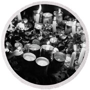 Soul Candles II Round Beach Towel