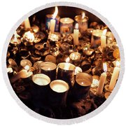 Soul Candles Round Beach Towel
