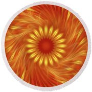 Soul Charger By Rgiada Round Beach Towel