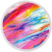 Soul Escaping Round Beach Towel