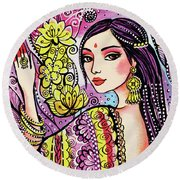 Soul Of India Round Beach Towel