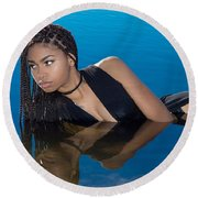 Soul Reflection Round Beach Towel