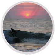 Round Beach Towel featuring the photograph Soul Surfer by Robert Banach