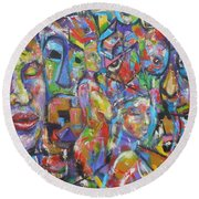Soulful Elevation Round Beach Towel