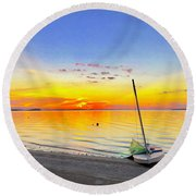 Souls Tended Round Beach Towel