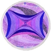 Round Beach Towel featuring the drawing Soulviolet by Kim Sy Ok