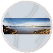 Round Beach Towel featuring the photograph Sound Of Jura Scotland by Lynn Bolt