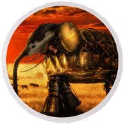 Sounds Of Cultures Round Beach Towel by Alessandro Della Pietra