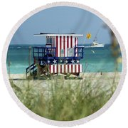 South Beach Round Beach Towel