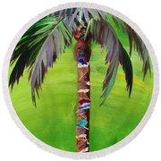 South Beach Palm IIi Round Beach Towel