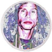 South Beach Poparazzi - Steven Tyler No. 1 - Surreal Celebrity Portraits Round Beach Towel