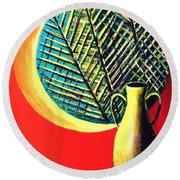 South Beach Window  Round Beach Towel