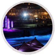 South Bend River Night Round Beach Towel by Brian Jones