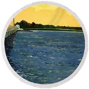 South Bridge Round Beach Towel