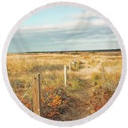 South Cape Beach Trail Round Beach Towel by Brooke T Ryan