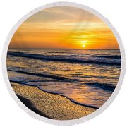 South Carolina Sunrise Round Beach Towel