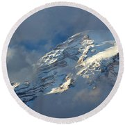 South Face - Mount Rainier Round Beach Towel