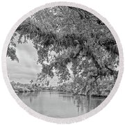 South Fork St. Lucie Round Beach Towel by Larry Nieland