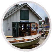 South Haven Boat Shed  Round Beach Towel