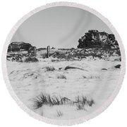 South Hessary Tor In The Snow Round Beach Towel