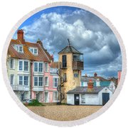 South Lookout Tower Aldeburgh Round Beach Towel