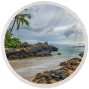 South Maui Secret Beach Round Beach Towel