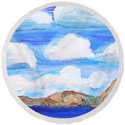 South Morro Bay View To North Round Beach Towel