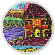 South Of France  Round Beach Towel