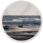 South Padre Island Surf Round Beach Towel