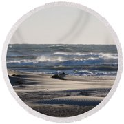 South Padre Island Surf Round Beach Towel