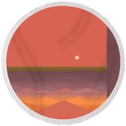 South Seas Abstract Round Beach Towel by Val Arie