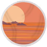 Round Beach Towel featuring the digital art South Seas by Val Arie