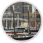 South Street Seaport Pioneer Round Beach Towel