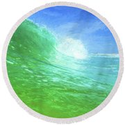 Round Beach Towel featuring the photograph South Walton Surf by JC Findley