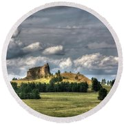 Belltower Butte Round Beach Towel