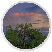 Round Beach Towel featuring the photograph Southeast Of Sunset H38 by Mark Myhaver