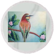 Southern Bee-eater Round Beach Towel
