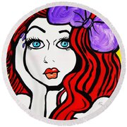 Sharlene   Southern Bell Round Beach Towel by Nora Shepley