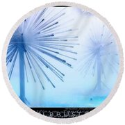 Southern California Fountains Round Beach Towel