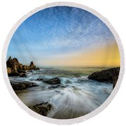 Southern California Sunset Round Beach Towel