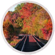 Southern Fall Round Beach Towel by RC Pics