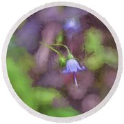 Round Beach Towel featuring the photograph Southern Harebell Wildflower by Kerri Farley