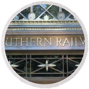 Southern Railway Building Round Beach Towel by John S