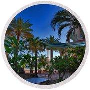 Southernmost Lush Garden In Key West Round Beach Towel