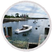Southport Maine Round Beach Towel