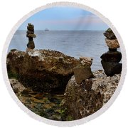 Southport Rock Art Round Beach Towel