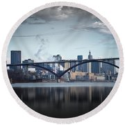 Southside And The High Bridge Round Beach Towel