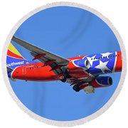 Southwest 737-7h4 N922wn Tennessee One Phoenix Sky Harbor November 28 2017 Round Beach Towel